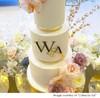 Wedding Couple initials for wedding cakes