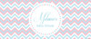 Personalized girls baby shower banner - pink & blue chevron theme - Australian made