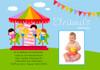 Carousel Carnival Birthday Party Invitations
