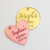 Acrylic Wedding Gift Tags