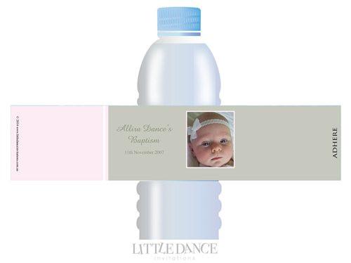 Christening, Baptism, Naming Day Personalised Water Bottle Labels Buy online.