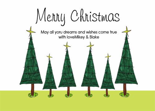 Christmas Tree Christmas Party Invitations and Christmas Greeting Card