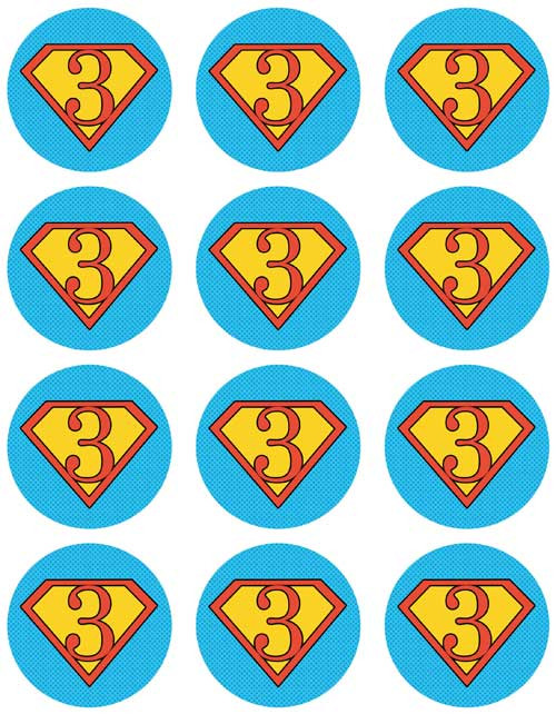 Superhero Cupcake & Cookie Sheets