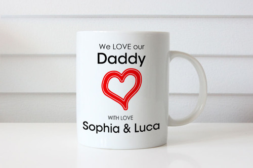 We love Daddy Fathers Day Personalised Mugs