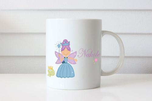 Princess Fairy Personalised Mug Gift - Custom Coffee Cup Present with Fairy Theme
