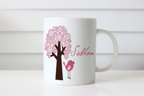 Sakura Tree Personalised Custom Name Mug