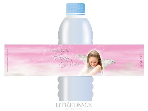 Angelic Personalised Water Bottle Labels. Order online - Australia wide delivery