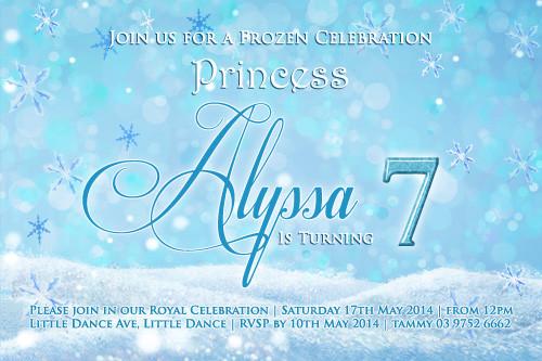 Disney Frozen Inspired Birthday Party Invitations