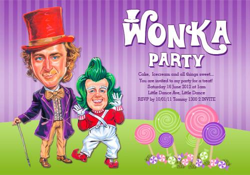Willy Wonka Birthday Party Invitation