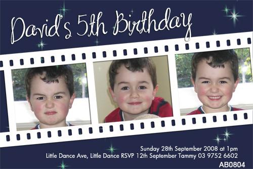 Boys Movie Slide Birthday Party Invitation