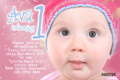 Girls Pink Birthday Party Invitation
