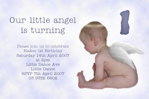 Little Angels Birthday Party Invitation