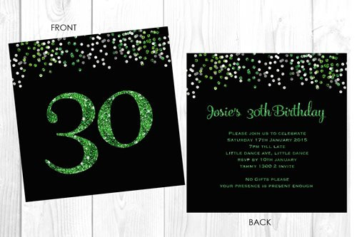 Personalised 30th birthday party invitation