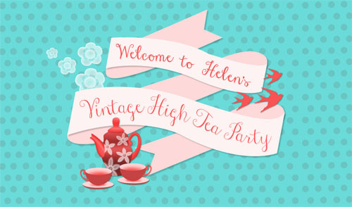 Personalised high tea party banner