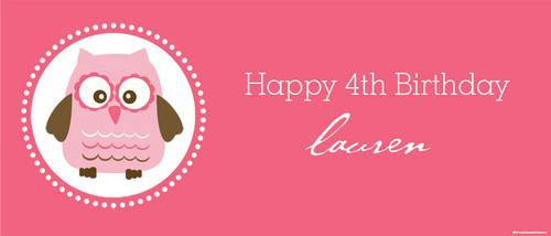 Hot Pink Birthday Party Backdrops, Banners & Posters