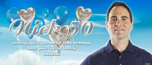 Party Banners - 50th Happy Birthday Banner