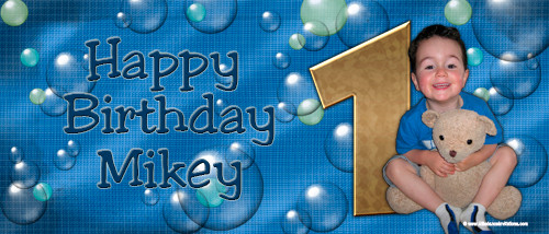 Party Banners - Bubbles Birthday Banner