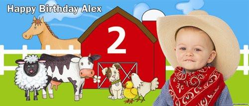 Party Banners - Farm Barnyard Birthday Banners