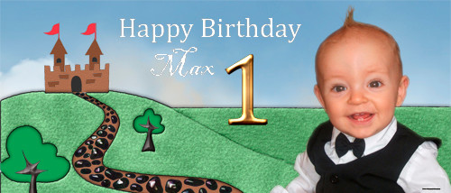 Custom boys birthday party banner for sale online. Made using a photo, Little Prince Theme
