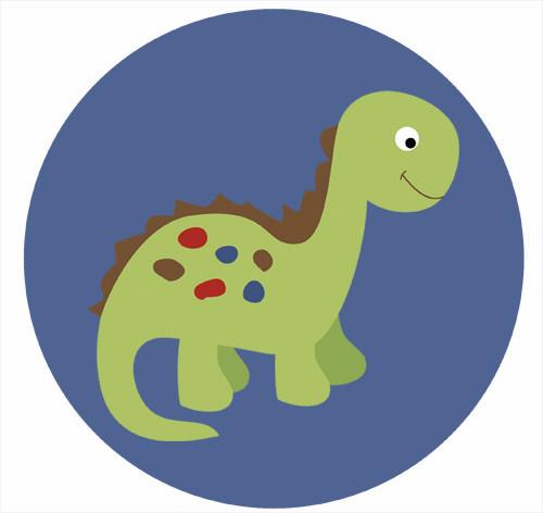 Dinosaur Party Spot Sticker Labels