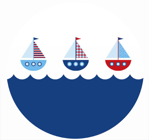 Nautical Themed Sailboat Party Spot Sticker Labels. Made in Australia. Buy online with Afterpay, PayPal or card