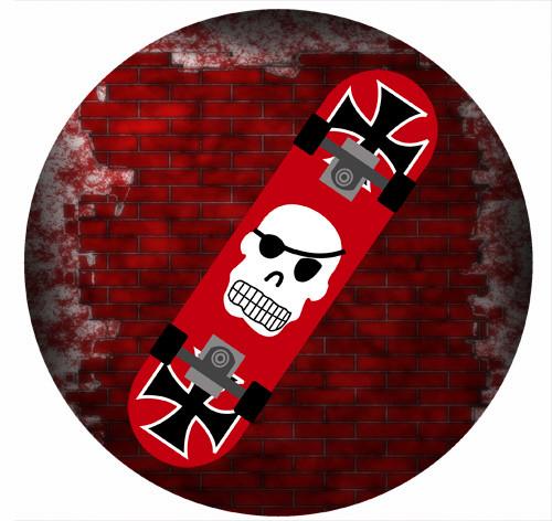 Skateboard Party Spot Sticker Labels