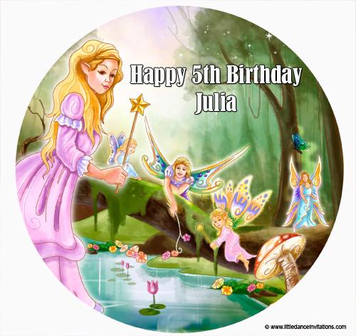 Fairy Birthday Cake Edible Image