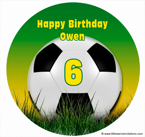 Soccer Personalised Edible Images