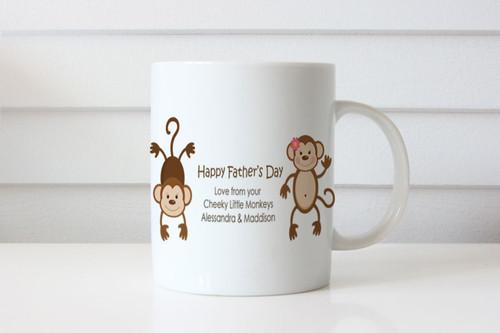 Cheeky Monkey Personalised Fathers Day Mugs