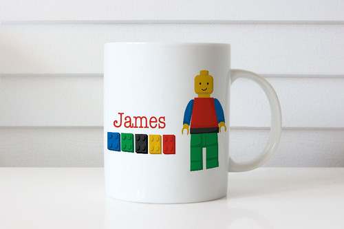 Boys Lego Building Blocks Personalised Mug