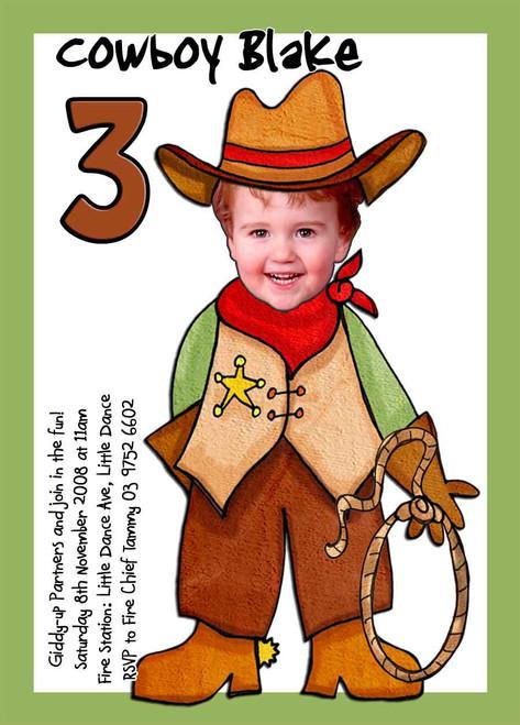 Cowboy Birthday Party Invitations