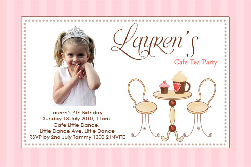 Cafe Birthday Party Invitations