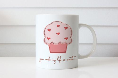 You Make My Life Sweet Custom Coffee Mug