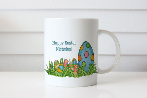 Personalized Easter Gift - Personalized Coffee Mug - Easter egg theme. Australian online shop