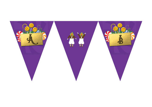 Willy Wonka Party Personalised Birthday Party Bunting Flags