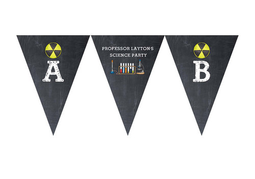 Chemistry Science Party Personalised Birthday Party Bunting Flags