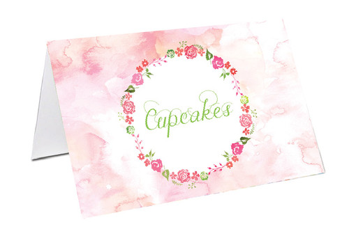 Floral Watercolour Party Personalised Place Cards, Name Cards, Buffet & Lolly jar cards
