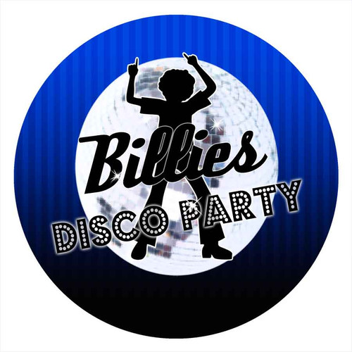 Boys Blue Disco Party Personalised Party Labels & Stickers & Stickers