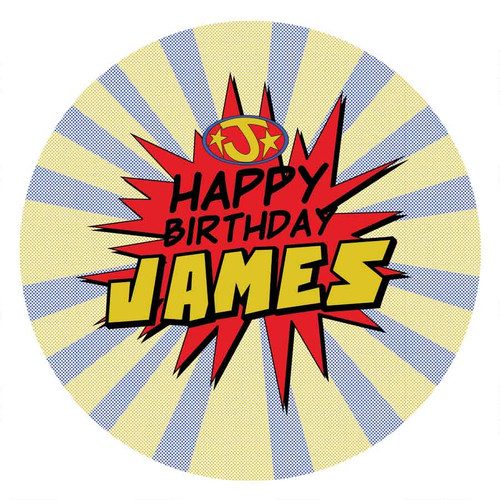 Superhero Party Personalised Party Labels & Stickers & Stickers