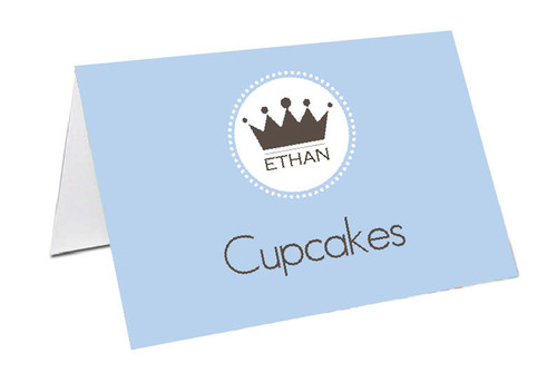 Little Prince Personalised Place Cards, Name cards & Buffet cards