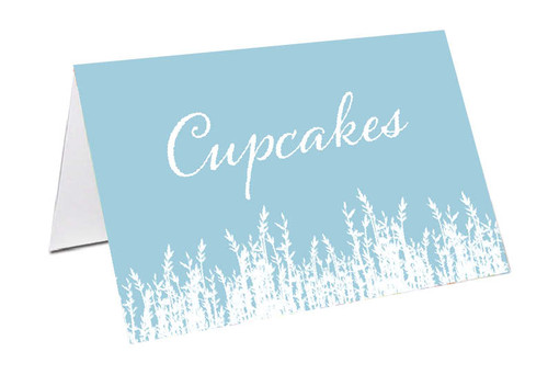 Blue Fields Personalised Place Cards, Name cards & Buffet cards.