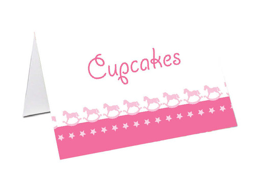 Rocking Horse Personalised Place Cards, Name cards & Buffet cards.