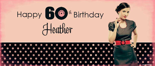 Retro Birthday Party Banner