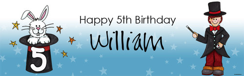 Magician Party Personalised Birthday Party Banner.