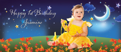 Night Garden Personalised Birthday Party Banner