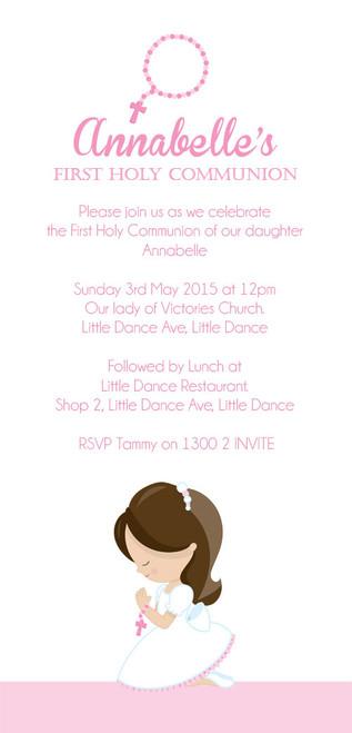 Girls First Holy Communion Invitations.