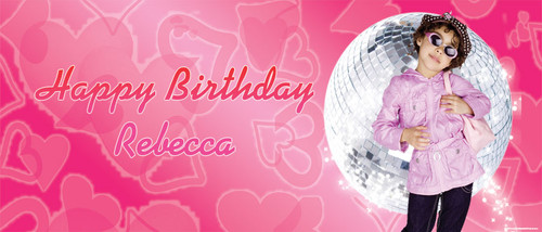 Disco Hip Hip Party Personalised Birthday Banner.