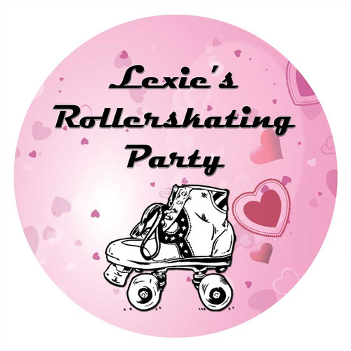 Roller Skating Birthday Cake Edible Image Icing Sheet.