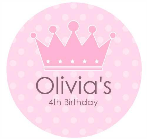 Princess Personalised Birthday Cake Icing Sheet - Edible Image.