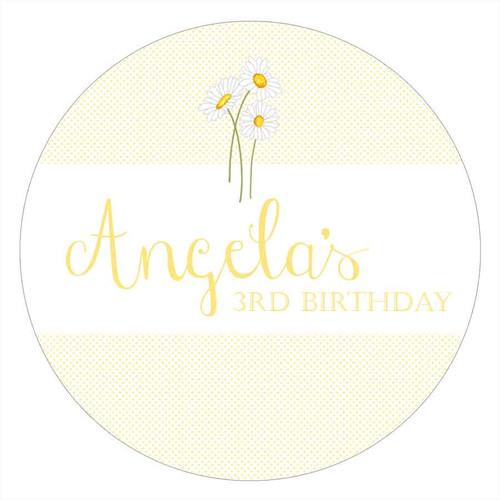 Daisy Personalised Birthday Cake Icing - Edible Image.